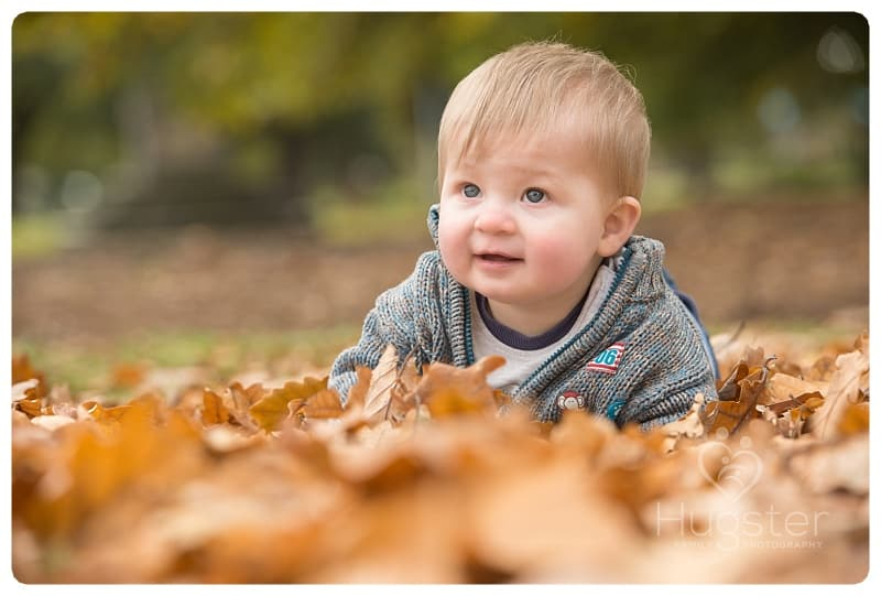 Autumn Leaves and A Baby