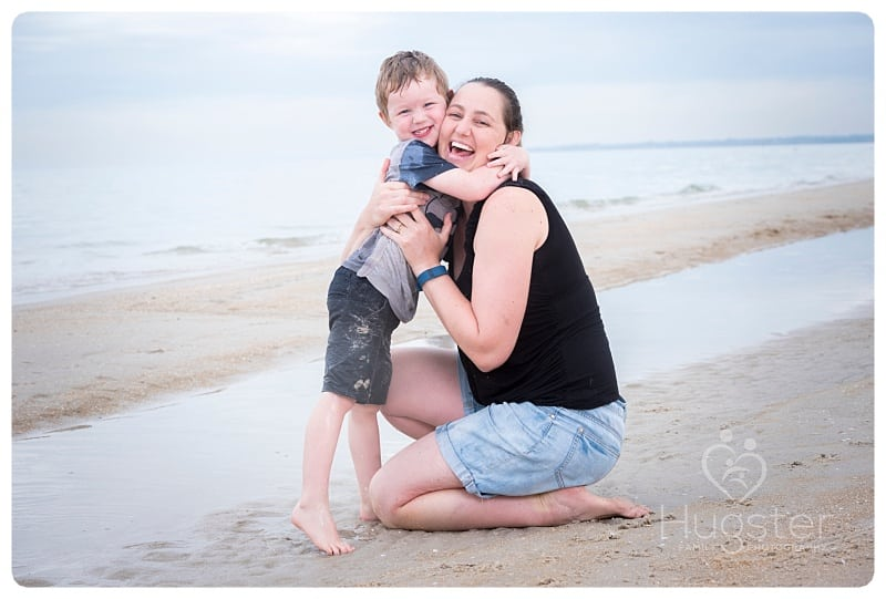 Family portrait sessions at the beach